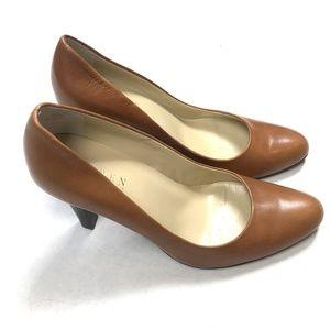 Ralph Lauren  7.5 Leather  Heels Tan